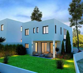Modern houses in Larnaca