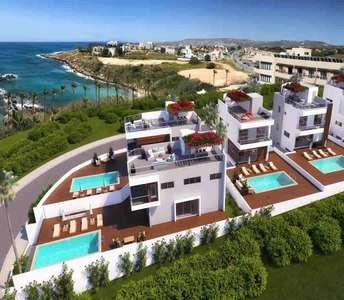 Paphos seafront villas for sale
