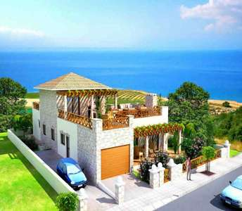 Countryside sea view home Paphos